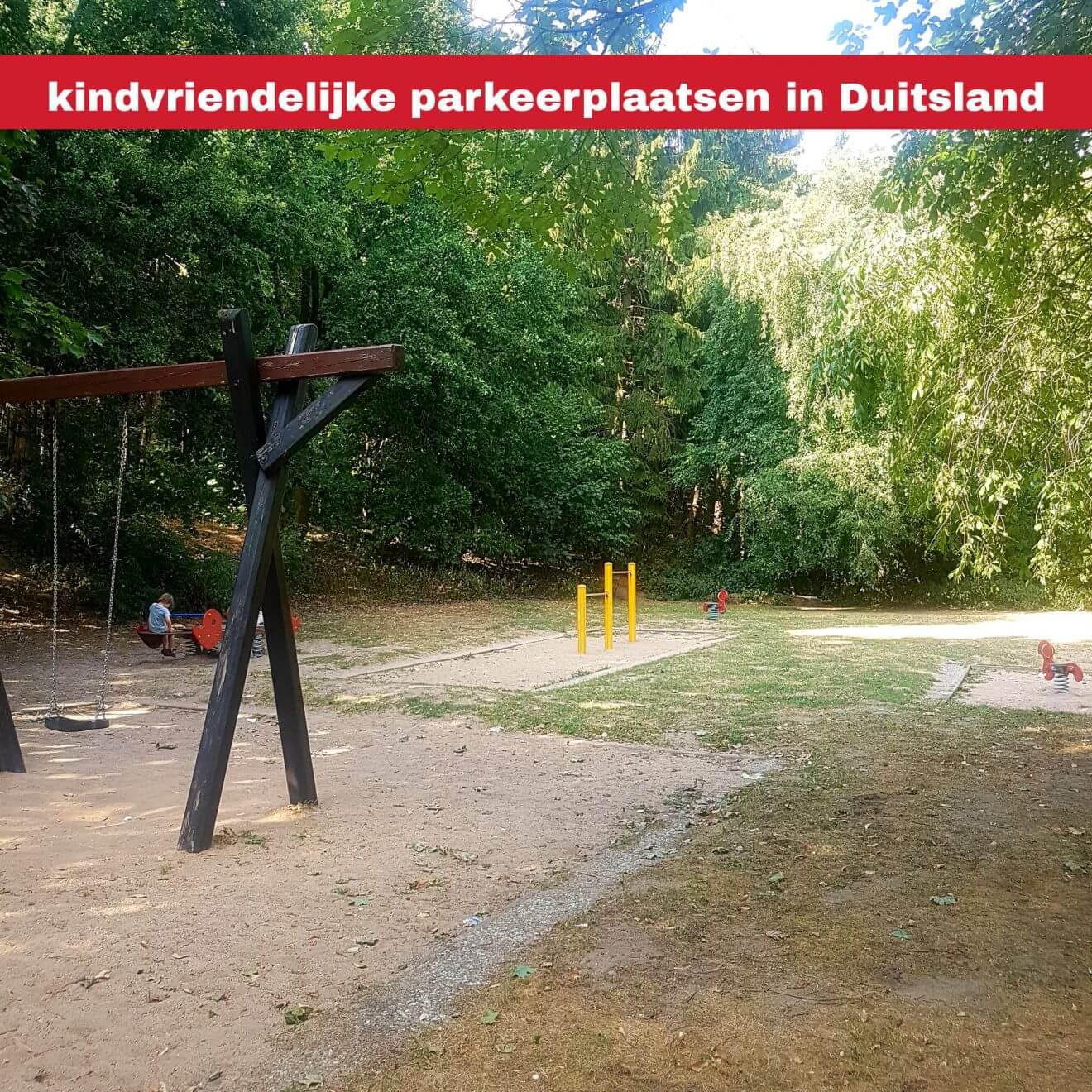 Kindvriendelijke parkeerplaatsen langs de snelweg in Duitsland