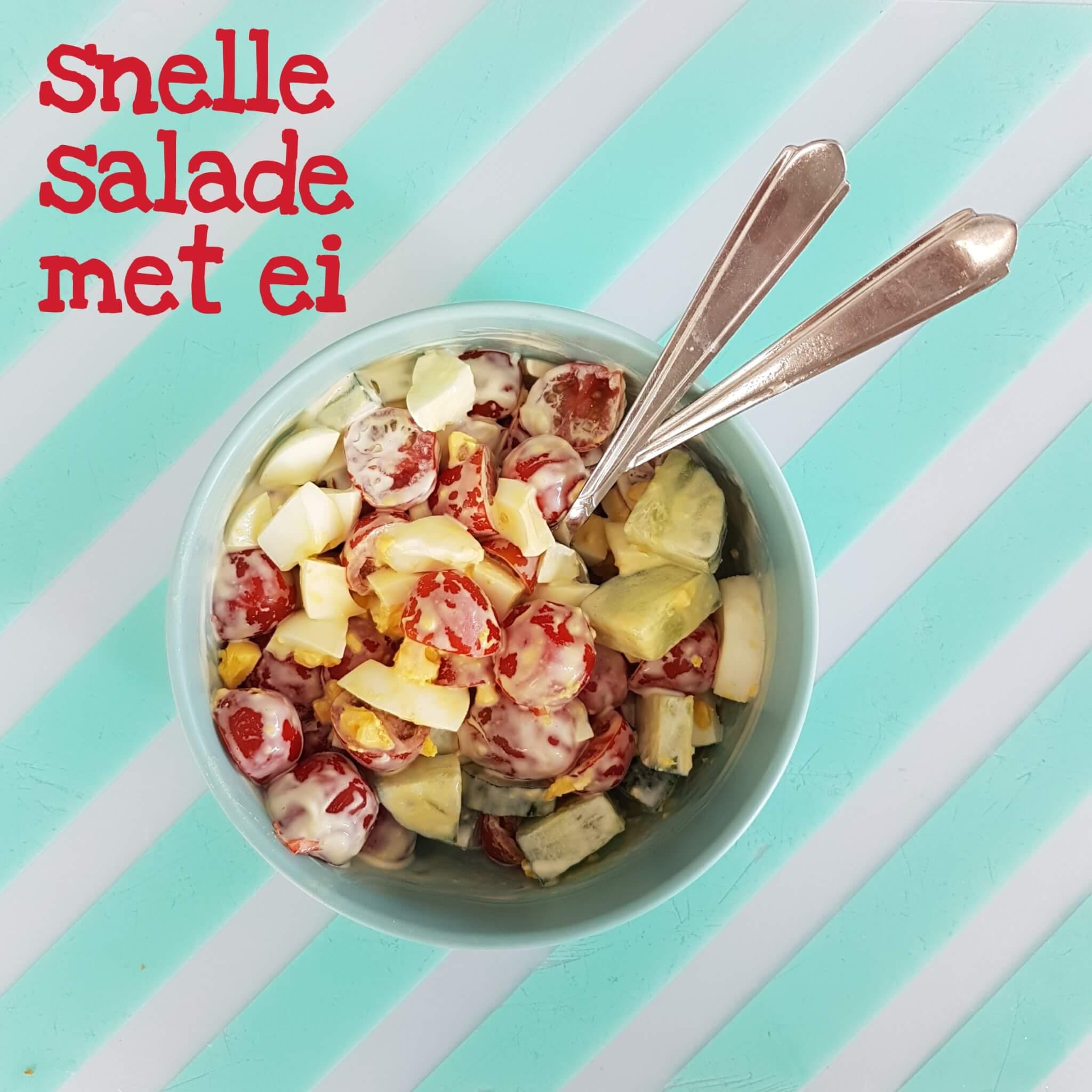 Recept voor snelle zomerse eiersalade, voor vakantie of thuis #leukmetkids #recept #kinderen
