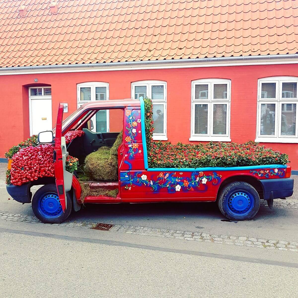 Vakantie met kids: sprookjesachtig Funen in Denemarken - de oude stad Bogense met strand en haven - Rozenfestival