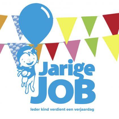 Goed doel: de feestslinger van Jarige Job in de supermarkten