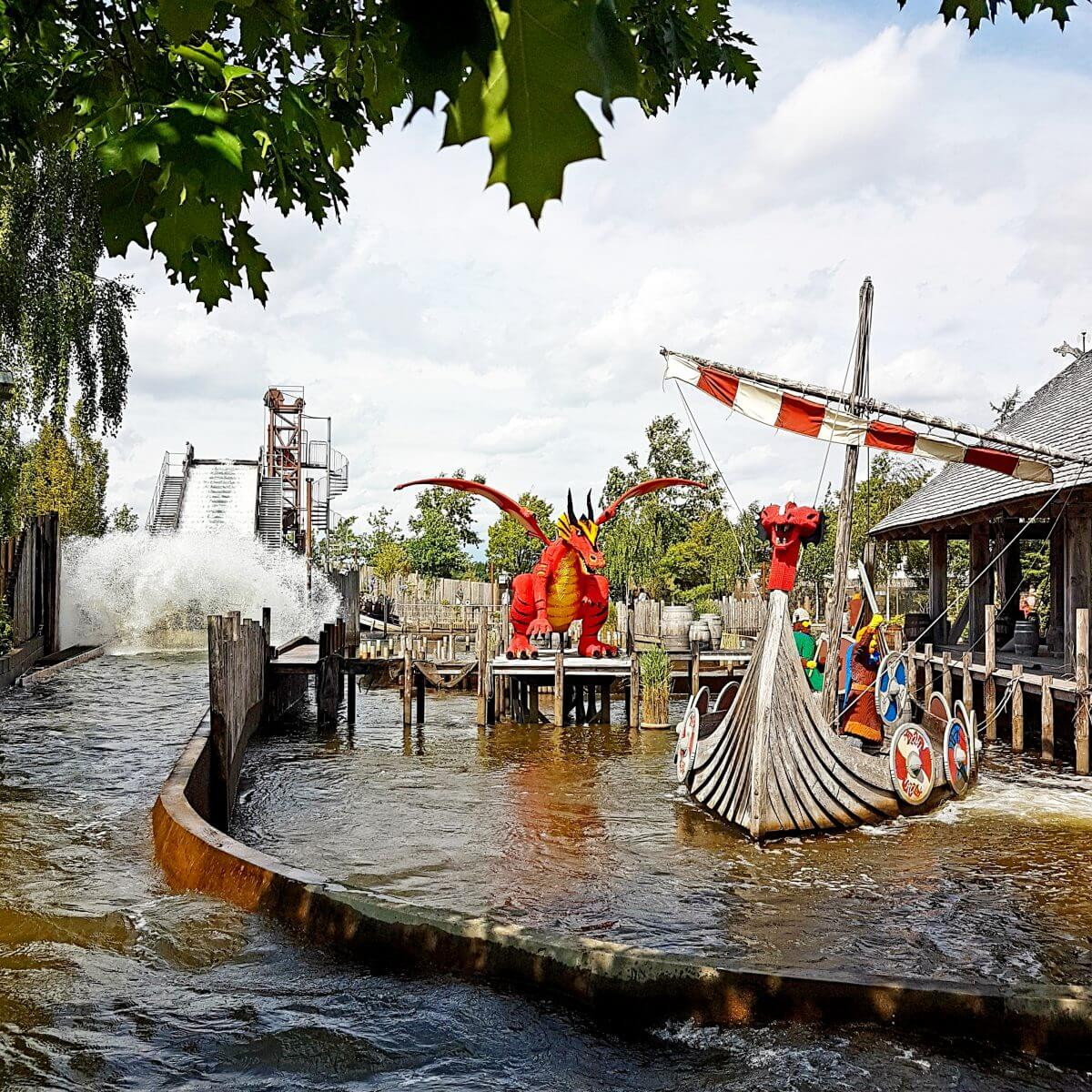 Legoland met kinderen: alles wat je wil weten, Knights Kingdom Vikings River Splash #leukmetkids #legoland #Denemarken #kinderen