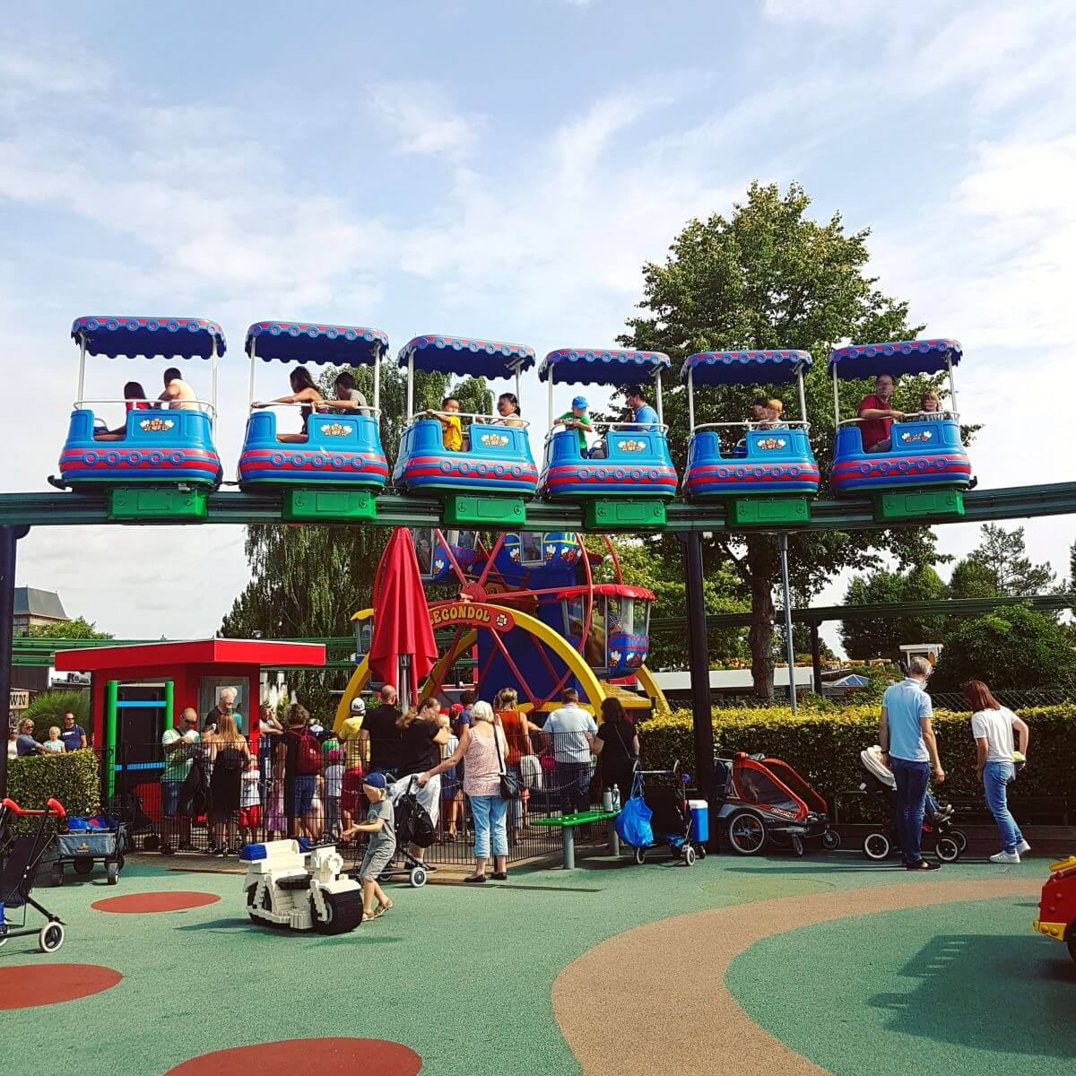 Legoland met kinderen: alles wat je wil weten, Miniland monorail en DUPLO Land Legondel #leukmetkids #legoland #Denemarken #kinderen