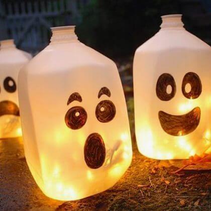 Halloween spookflessen knutselen