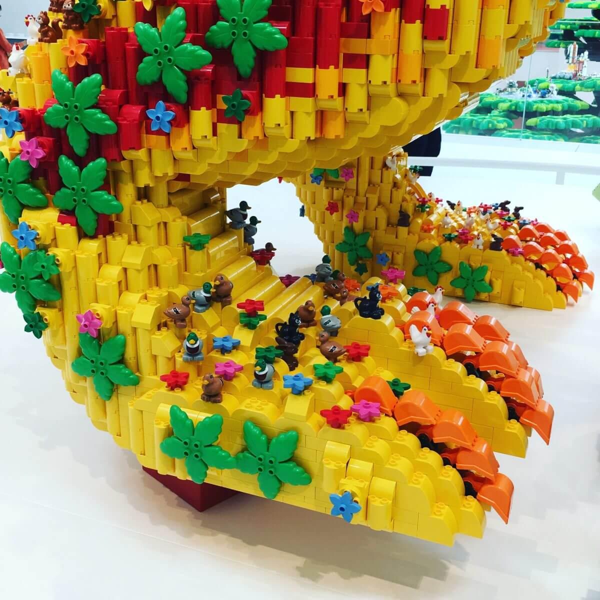 DUPLO draak in LEGO House vlakbij Legoland Billund