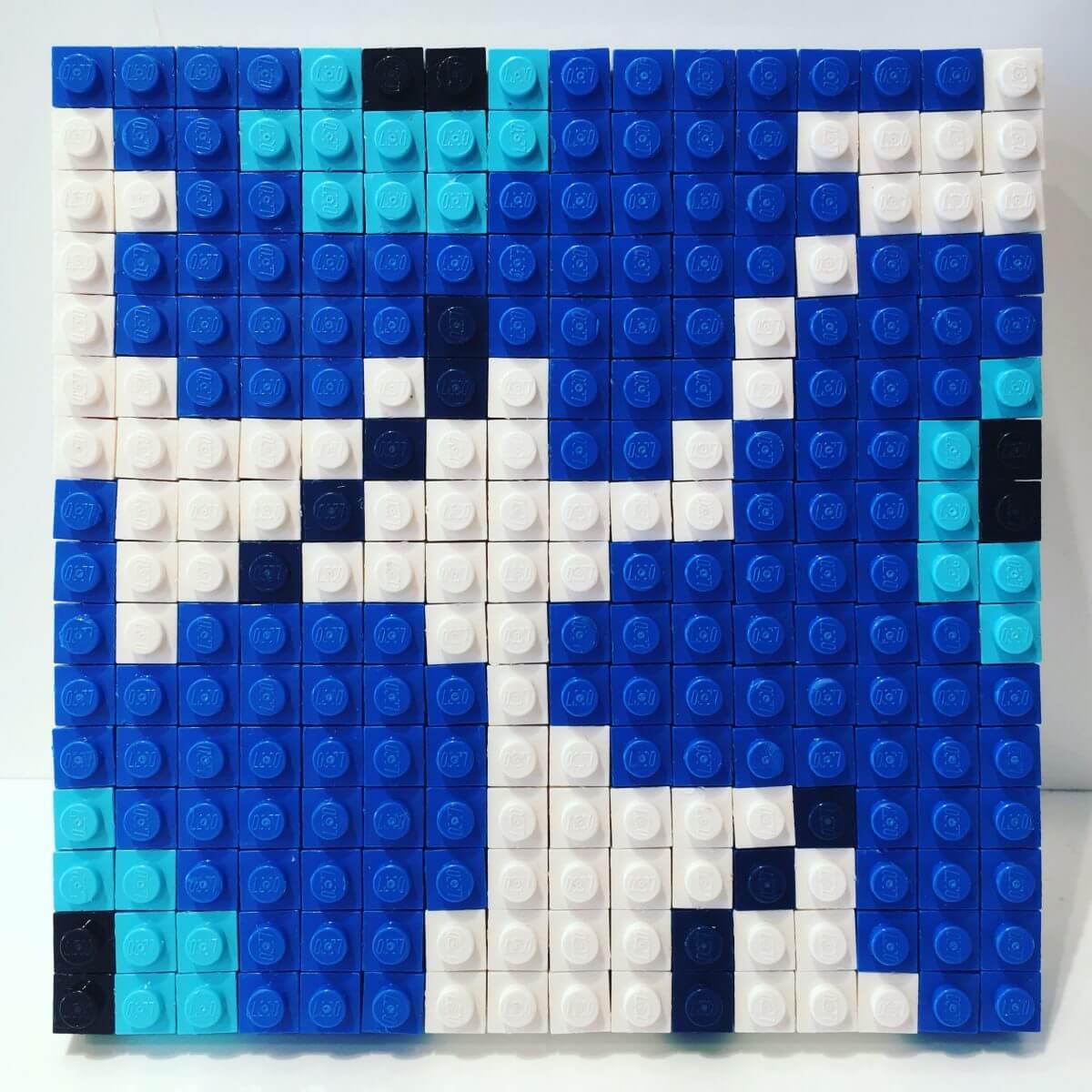 Mama's kunstwerk in LEGO House vlakbij Legoland Billund