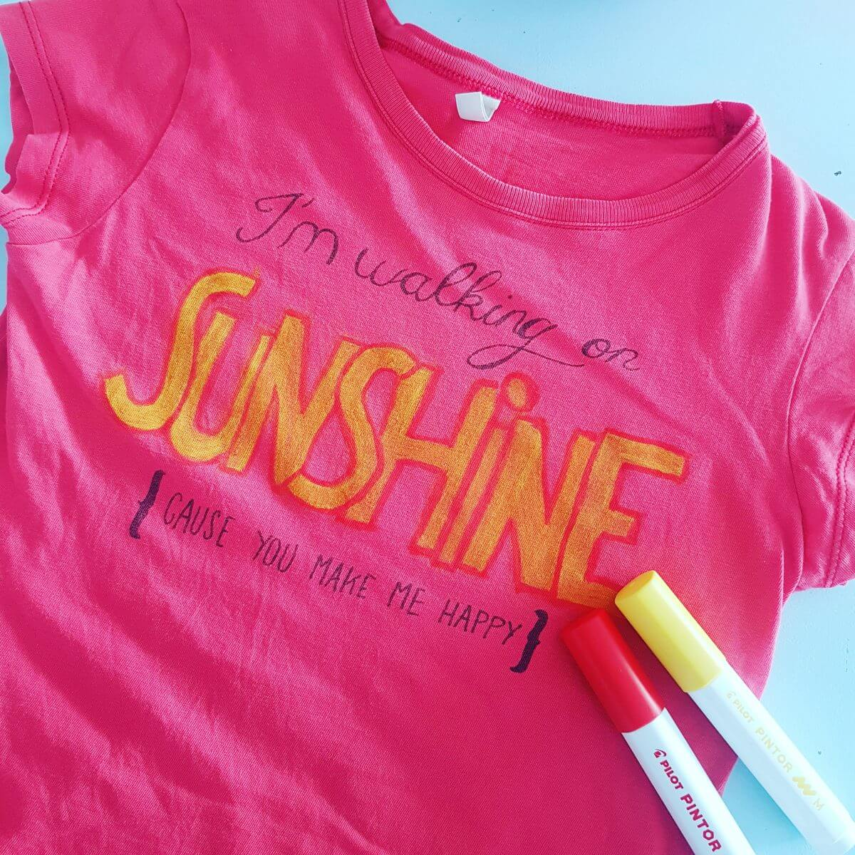 Pintor markers: met stiften een t shirt versieren