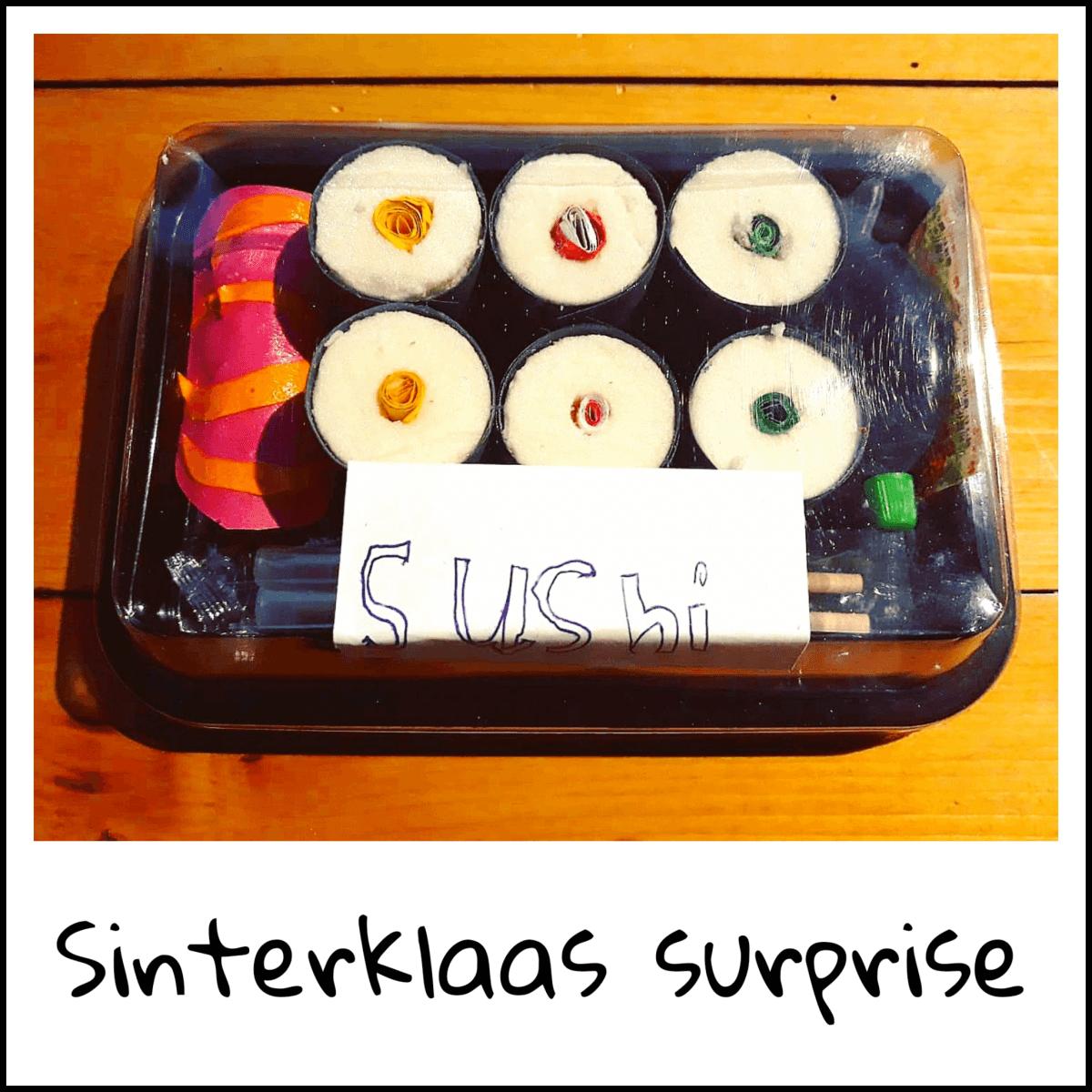Sinterklaas surprise: sushi voor wie van lekker eten houdt
