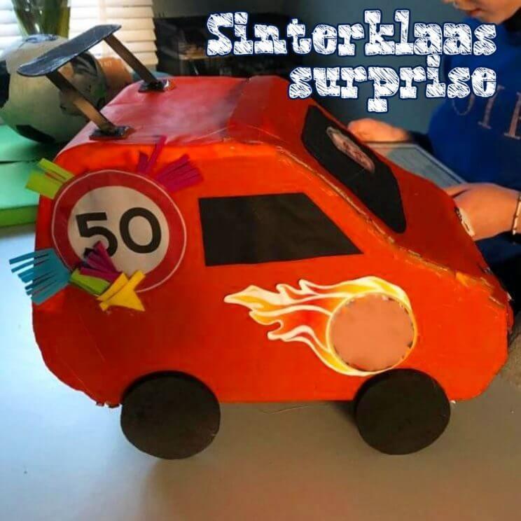 Sinterklaas surprises: auto 50 (jaar) knutselen