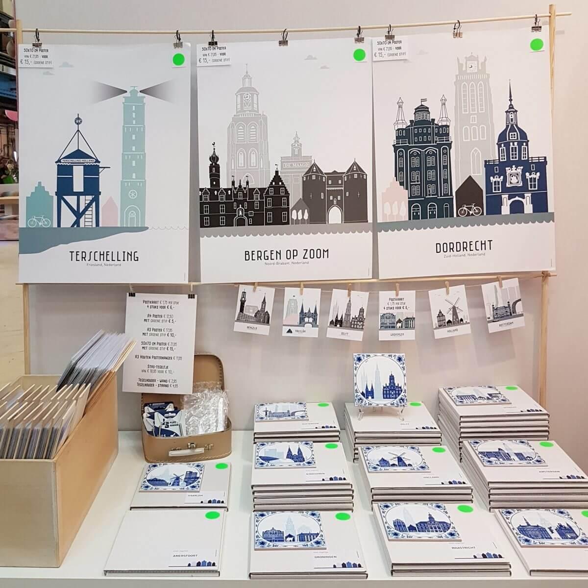 Webshop event Flavourites Live 2018: posters van steden van Mevrouw Emmer