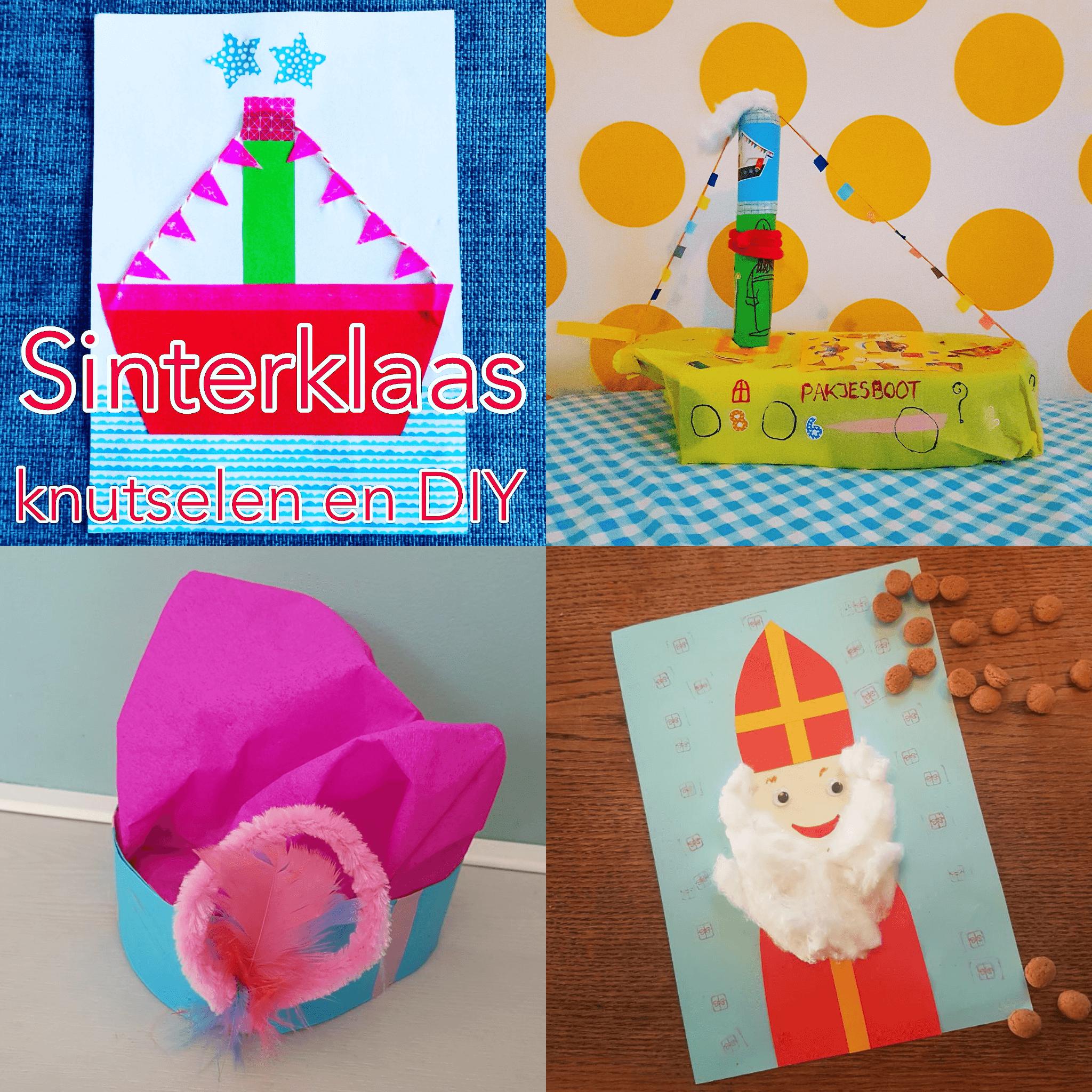 Verwonderlijk Sinterklaas knutselen: leuke ideeën voor Sint en Piet - Leuk met kids ZL-11
