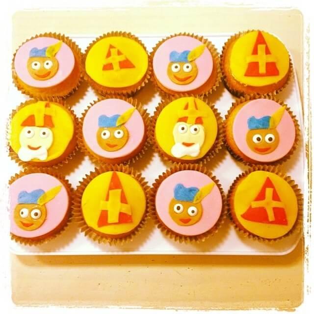 Sint decoratie: Sinterklaas muffins
