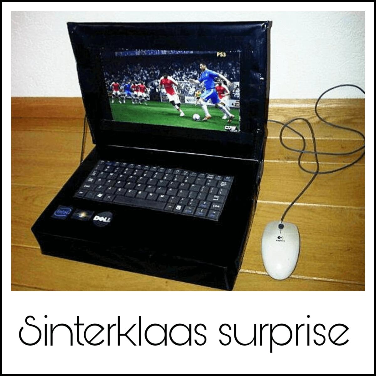 Sinterklaas surprise laptop computer