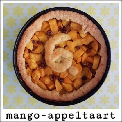 Recept: mango-appeltaart