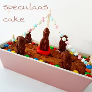 Sinterklaas recept stoomboot speculaas-cake