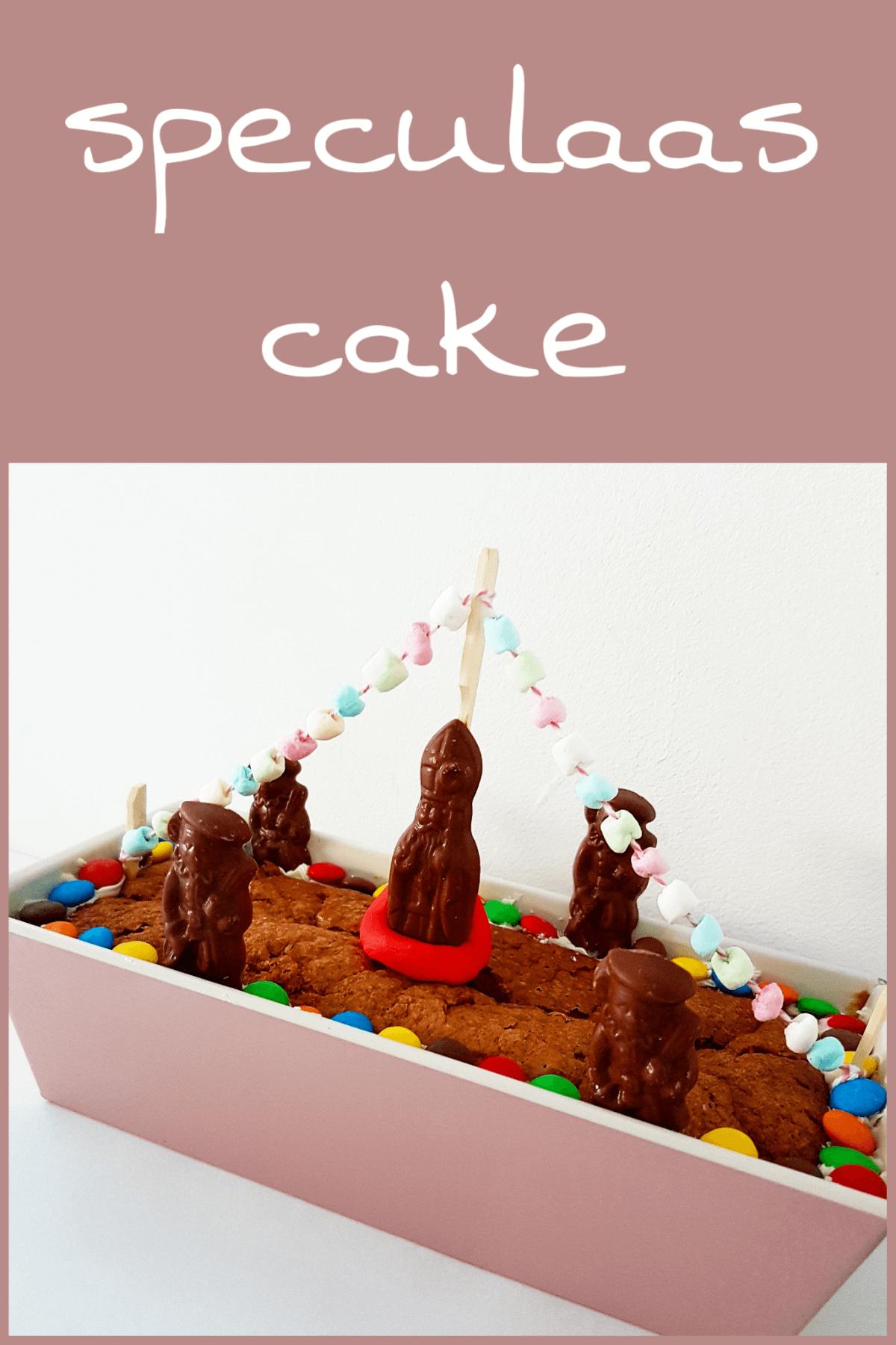 Sinterklaas recept: stoomboot speculaas-cake met noten en wortel