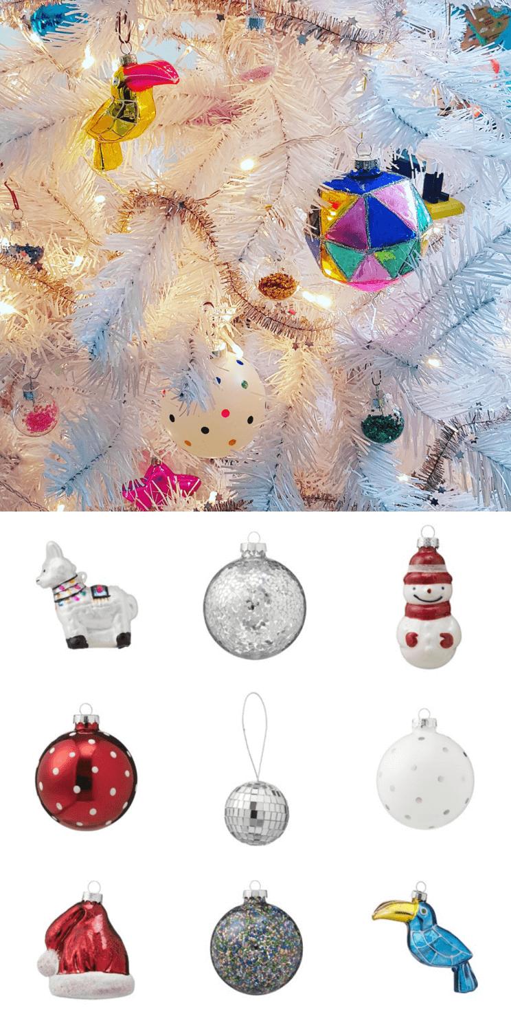 Kerst shoppen bij de Hema: kerstballen van glas