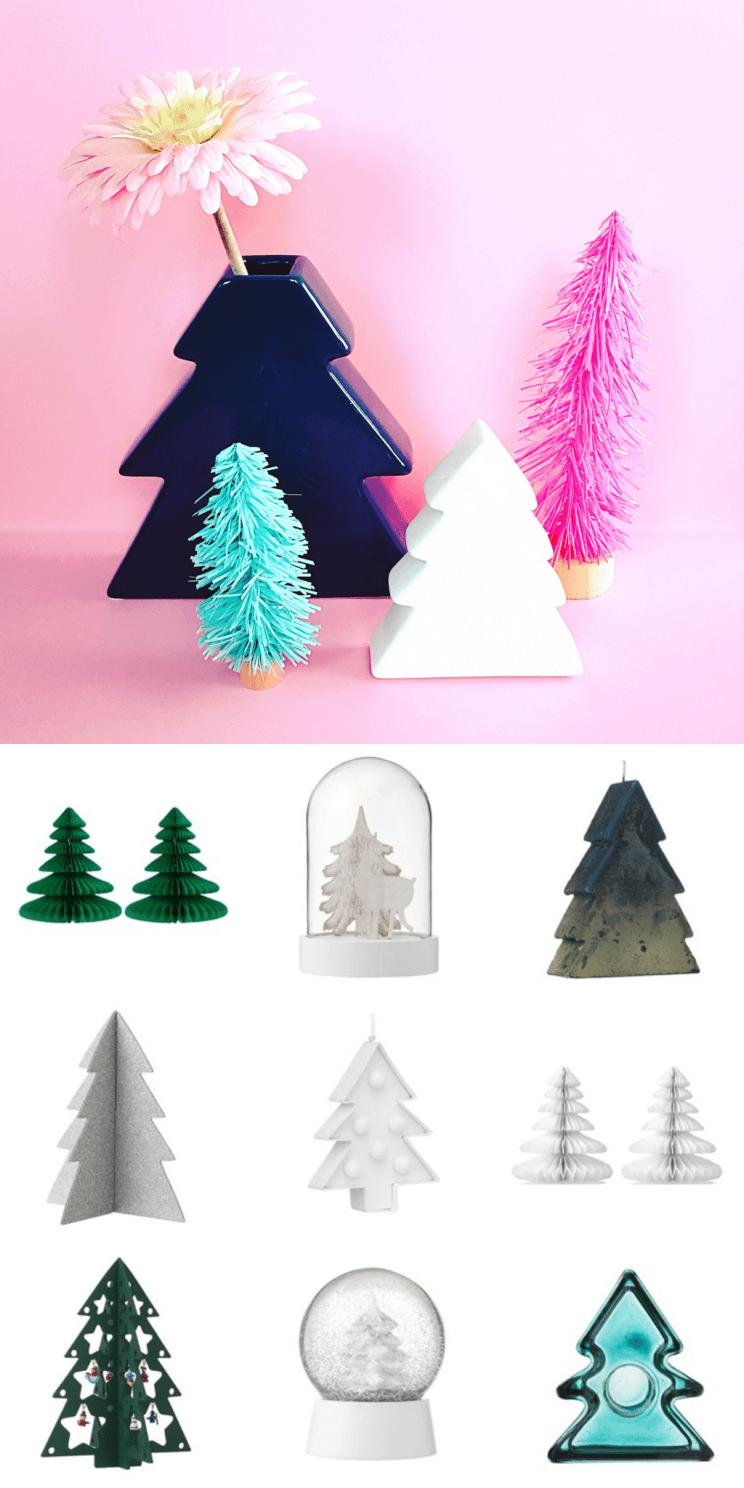 Kerst shoppen bij de Hema: decoratie kerstboompjes