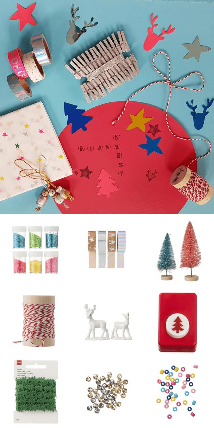 Kerst shoppen bij de Hema: kerst knutselen