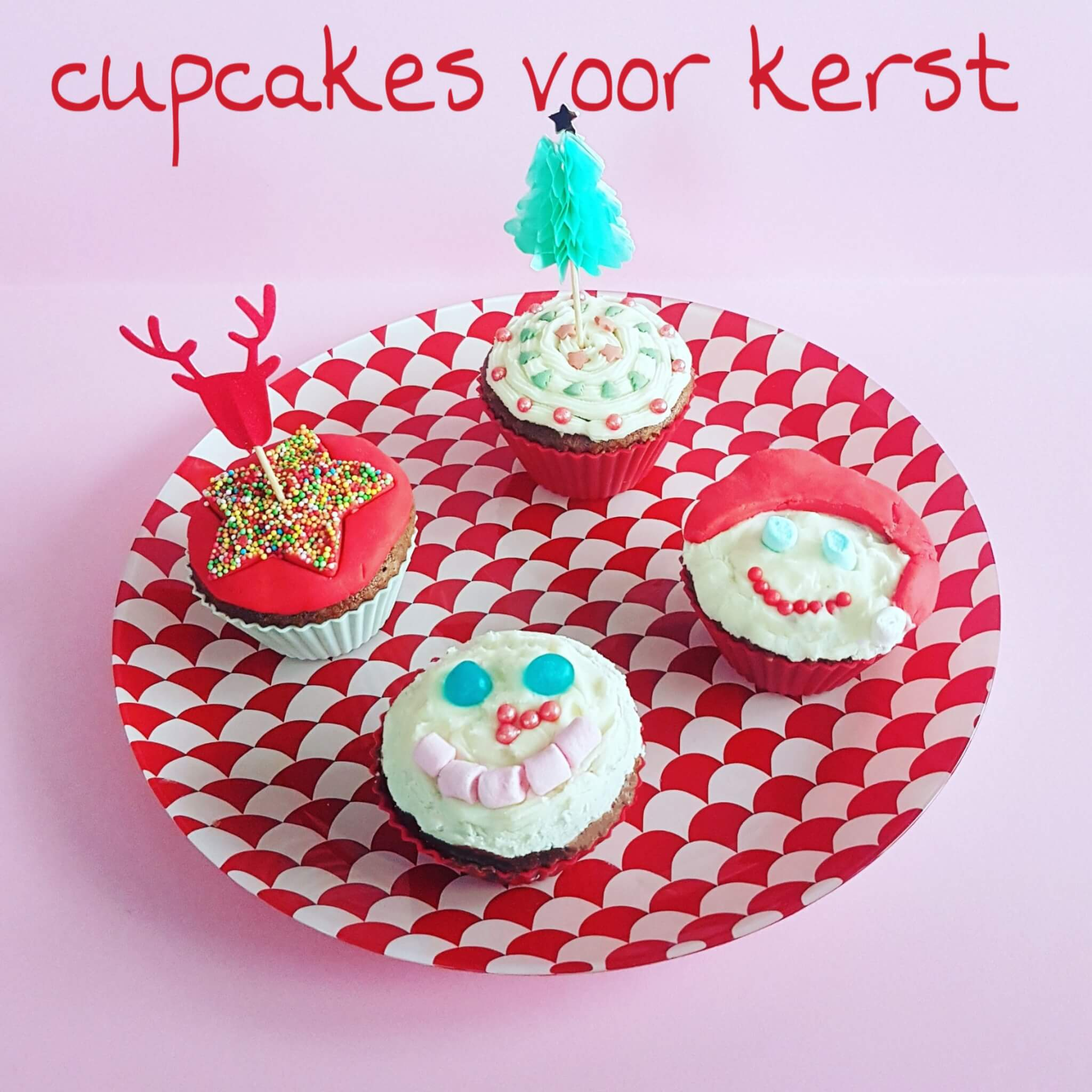 cupcakes versieren voor kerst
