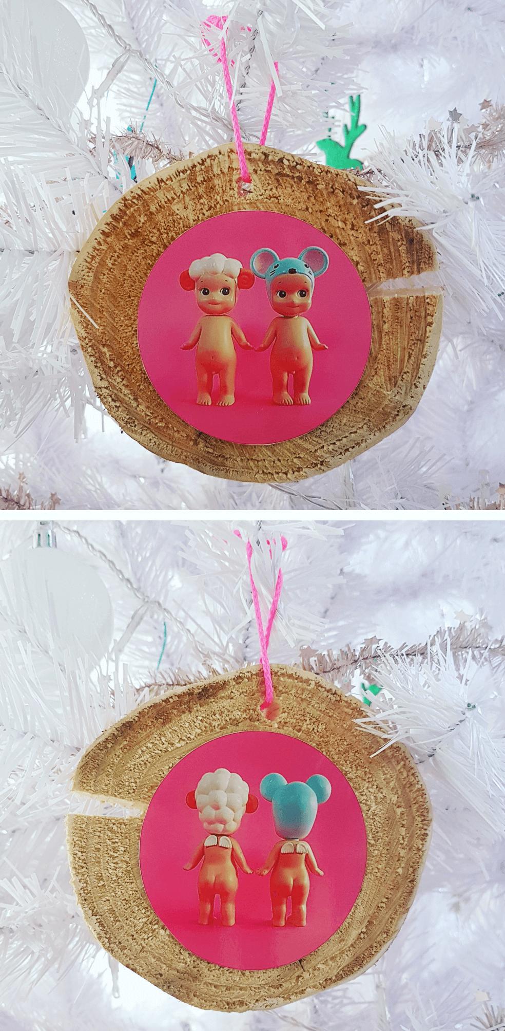Kerst knutselen met foto's: kerstbal maken van een foto