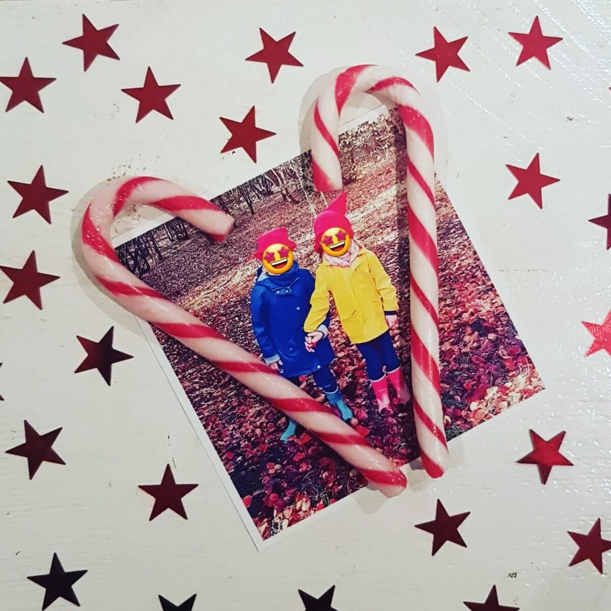Kerst knutselen met foto's: kerstkaart diy
