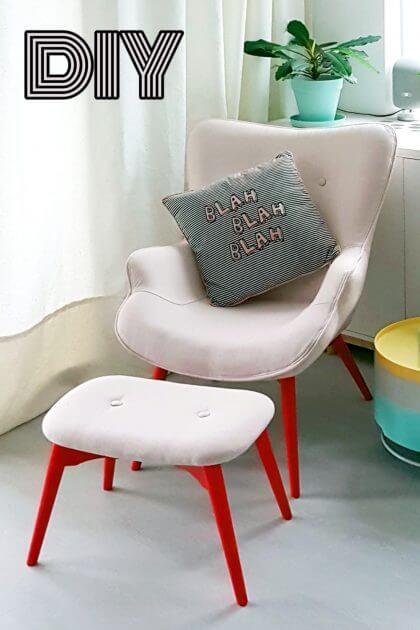 DIY: kleurrijke loungestoel
