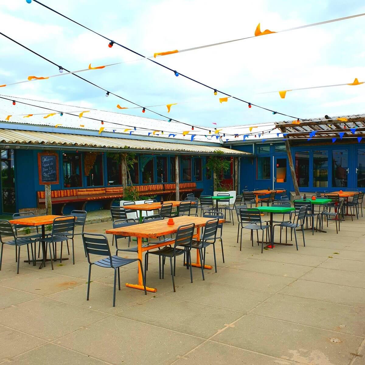 Het terras van restaurant Haas & Popi