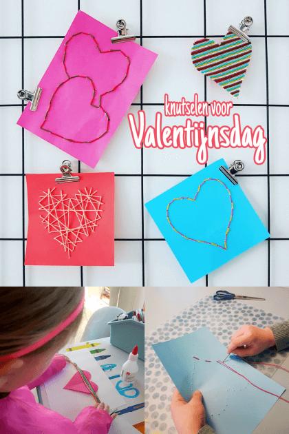 Knutselen voor Valentijnsdag: hartjes van wol