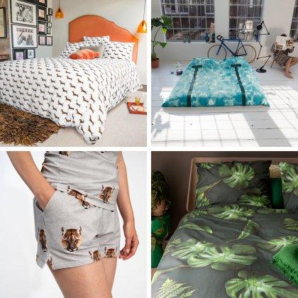 Cadeau ideeën voor tieners van 12, 13, 14, 15, 16, 17 of 18 jaar. Mooi beddengoed geeft een tienerkamer meteen een leuke sfeer. Zoals dit beddengoed van SNURK Amsterdam, in allerlei prachtige printjes en gemaakt van biologisch katoen. Daarnaast maakt SNURK ook mooie nachtkleding.