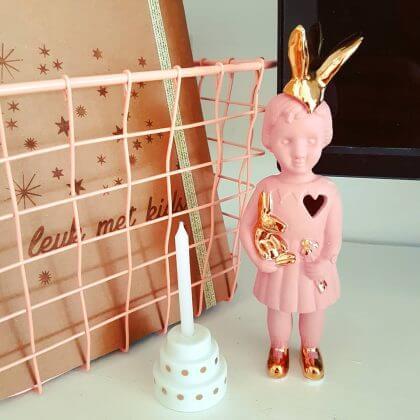 Cadeau ideeën voor Valentijnsdag: beeldje konijn Lammers en Lammers