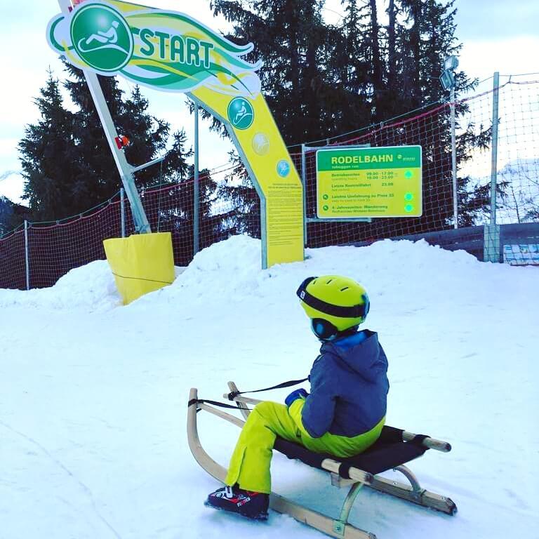 Schladming-Dachstein: wintersport met kids in Oostenrijk - rodelen met de slee