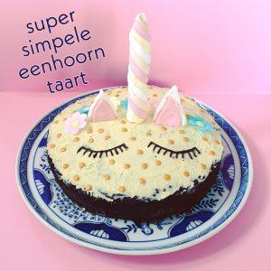 Recept voor verjaardagstaart: super simpele eenhoorn taart