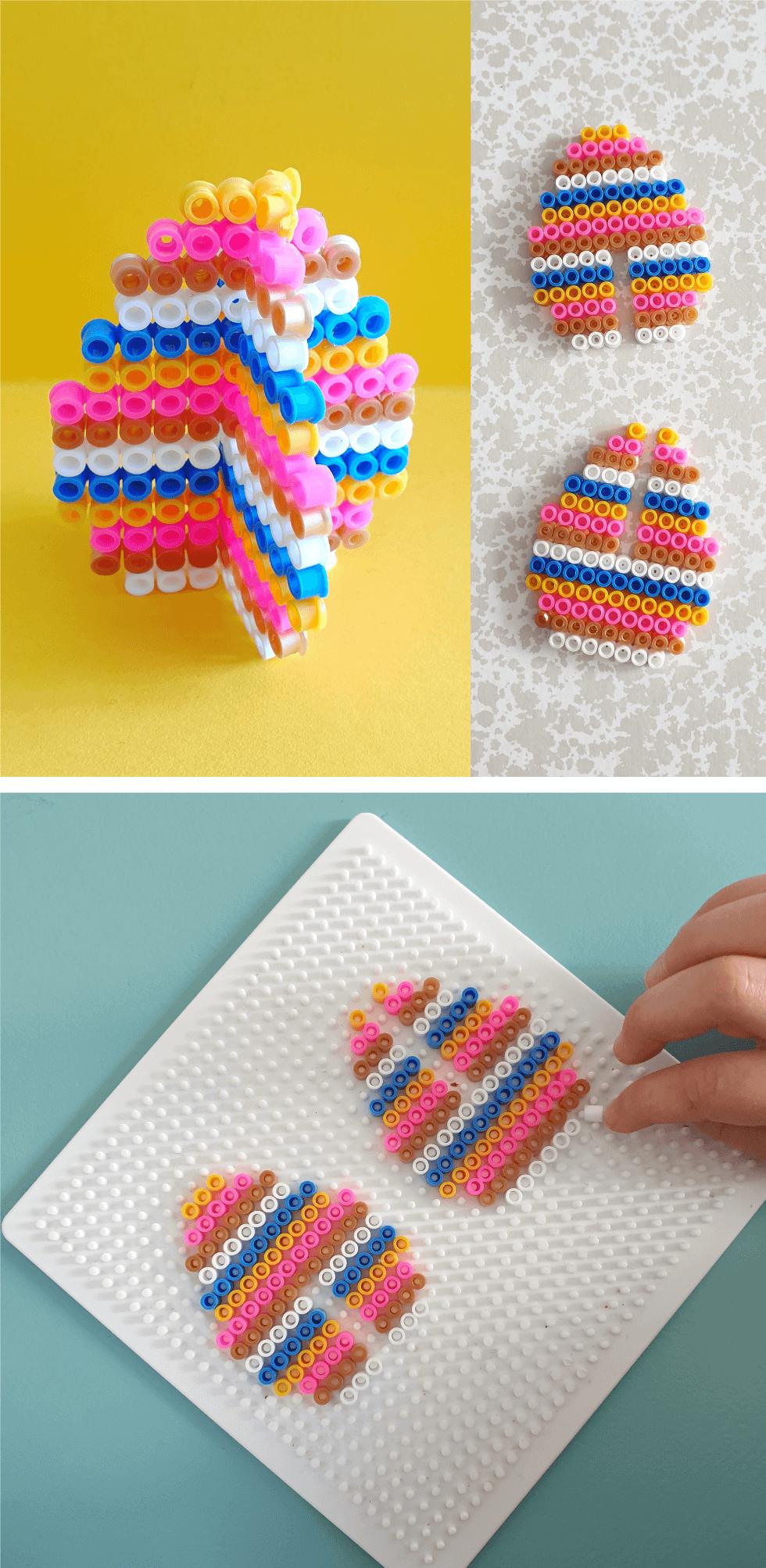 Knutselen met strijkkralen: Pasen en de lente, 3d paasei maken