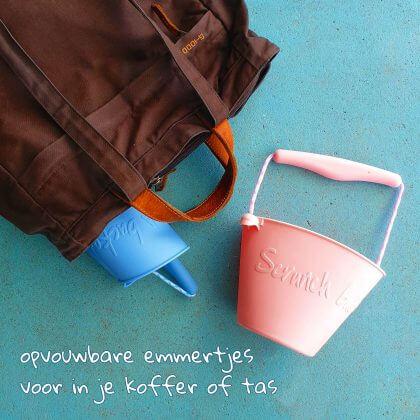 Opvouwbare emmertjes voor in je koffer of tas