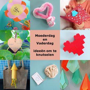 Moederdag en Vaderdag: ideeën om te knutselen