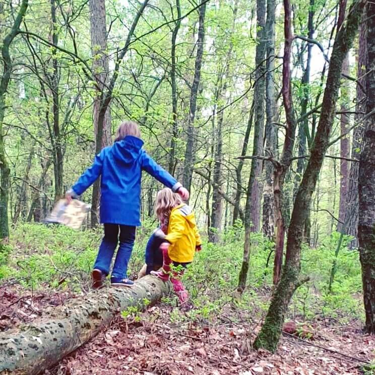 Wandelend met kinderen de natuur ontdekkenop Landal Rabbit Hill