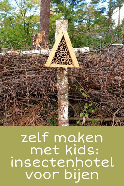 Zelf maken met kinderen: een insectenhotel voor bijen in de tuin