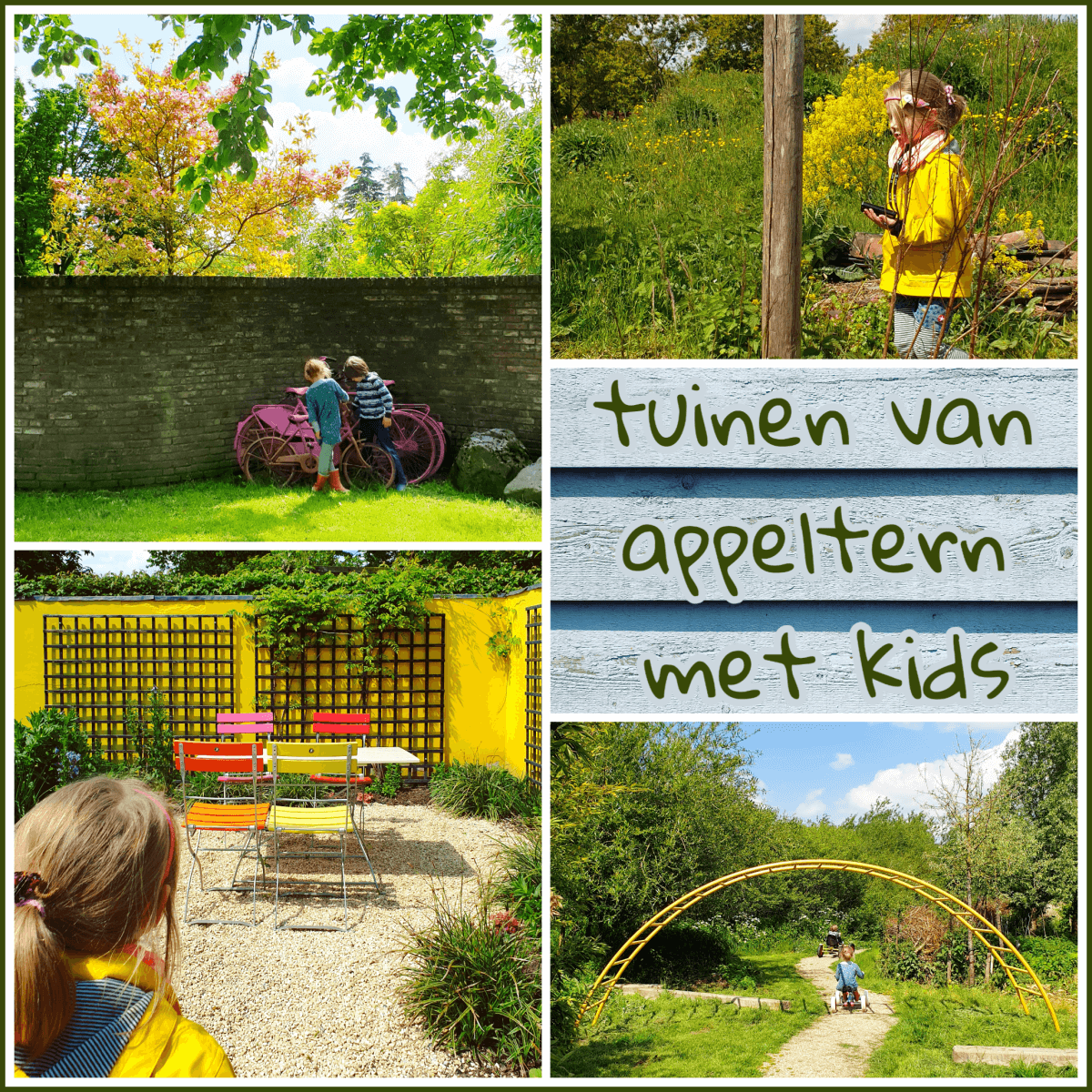 De Tuinen van Appeltern: tuin inspiratie opdoen terwijl de kids spelen