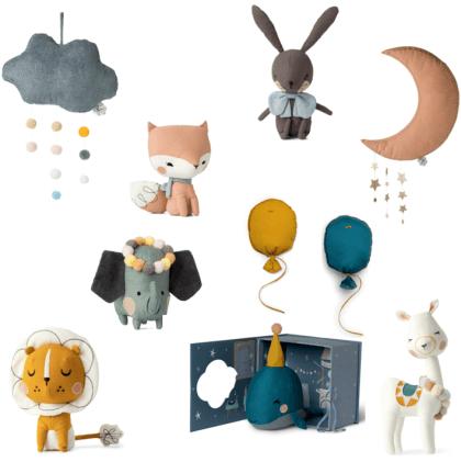 knuffels en kinderkamer accessoires van Picca Loulou
