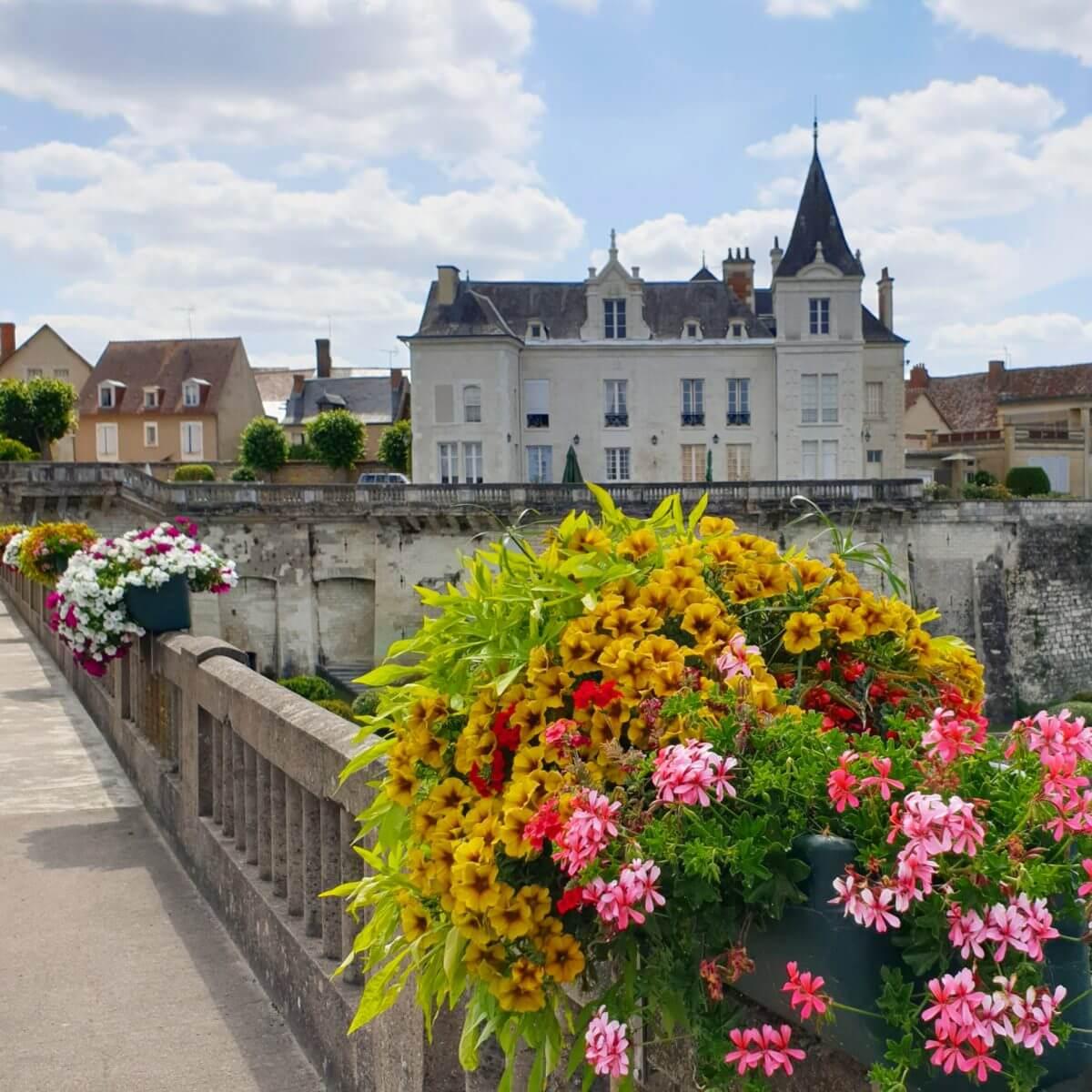 La Roche-Posay op de grens van de Vienne en Indre-et-Loire