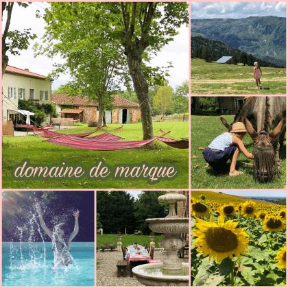 kindvriendelijke camping en gîtes: Domaine de Marque in de Pyreneeën