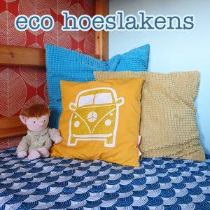 Eco hoeslaken van Swedish Linens voor kinderbed