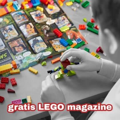 Tip: gratis abonnement op het tijdschrift van LEGO