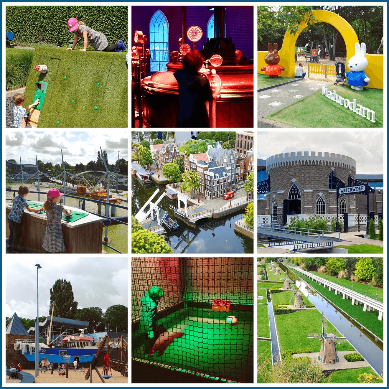 Madurodam in Den Haag: miniatuurstad, speeltuinen en indoor attracties