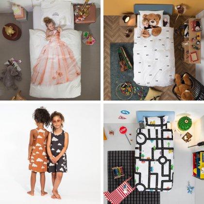 Peuter verjaardag: cadeau ideeën voor kinderen van 2 of 3 jaar. Zoals dit beddenboed van SNURK Amsterdam, in allerlei prachtige printjes en gemaakt van biologisch katoen. Daarnaast maakt SNURK ook mooie nachtkleding.