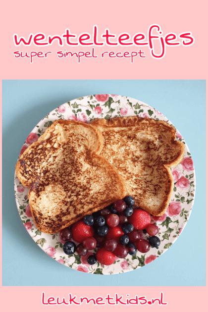 Recept voor wentelteefjes bij het ontbijt
