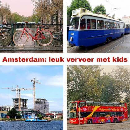 Het leukste vervoer in Amsterdam met kinderen