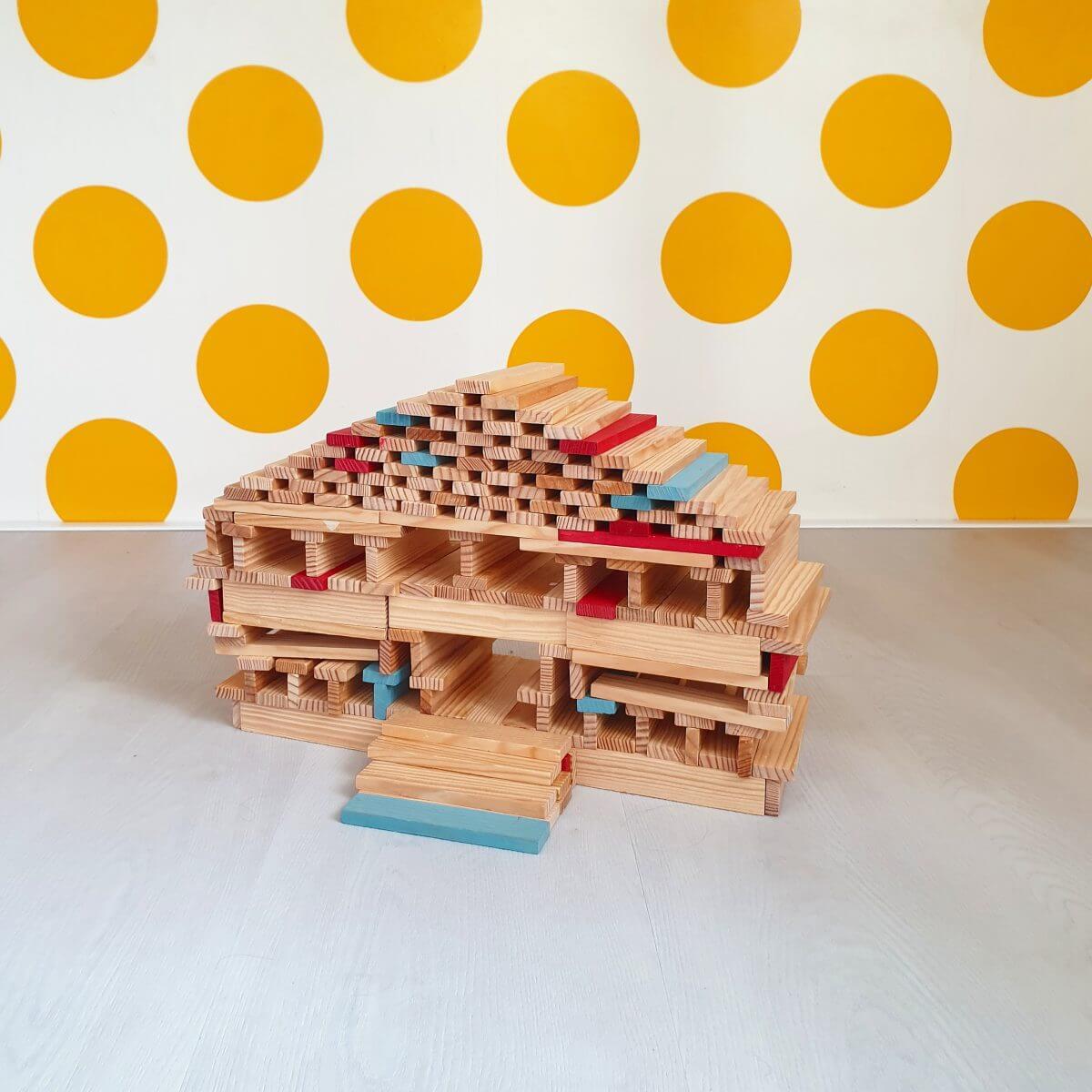 KAPLA voorbeeld huis gebouw