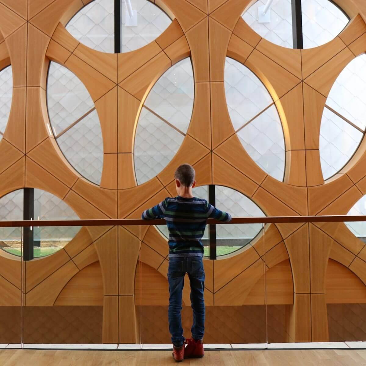 de architectuur van Naturalis in Leiden