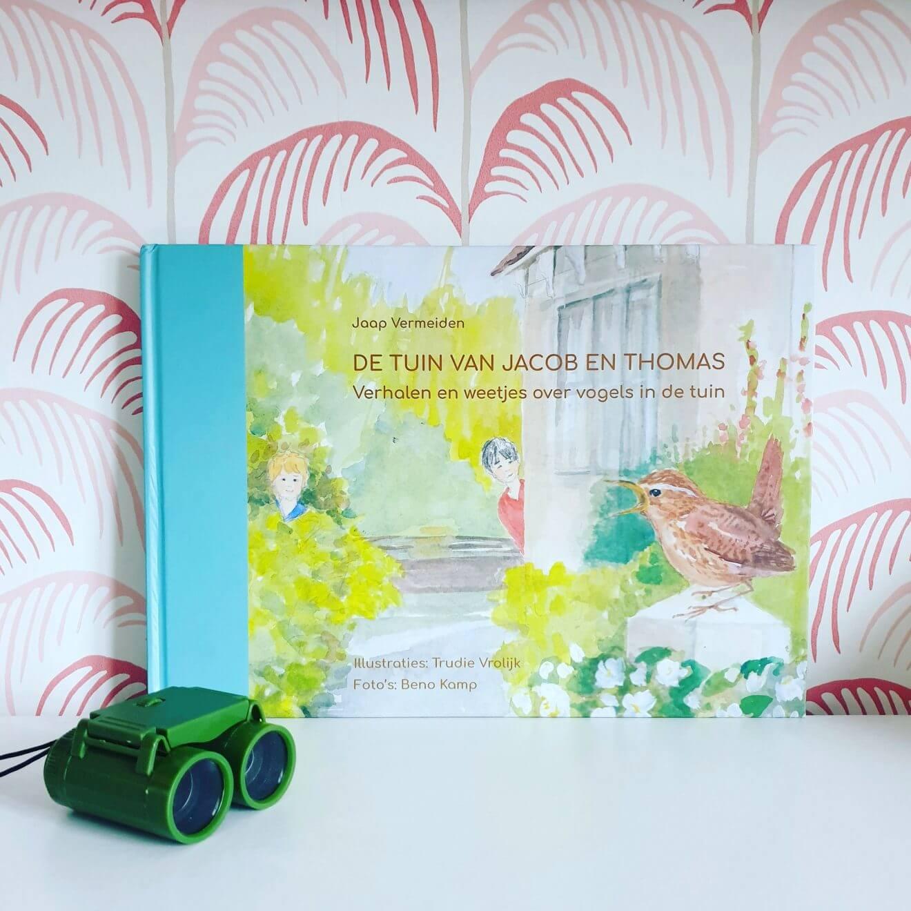 Boek om kinderen te leren over vogels: De tuin van Jacob en Thomas